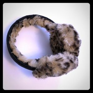 Juicy Couture Earmuffs. Leopard print with sequins